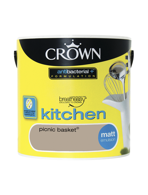 2.5L Crown Kitchen Matt Emulsion - Picnic Basket