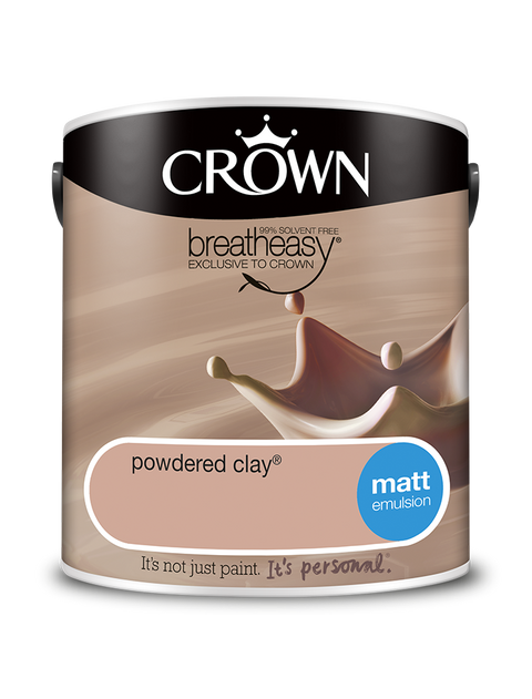 2.5L Crown Matt Emulsion - Powdered Clay