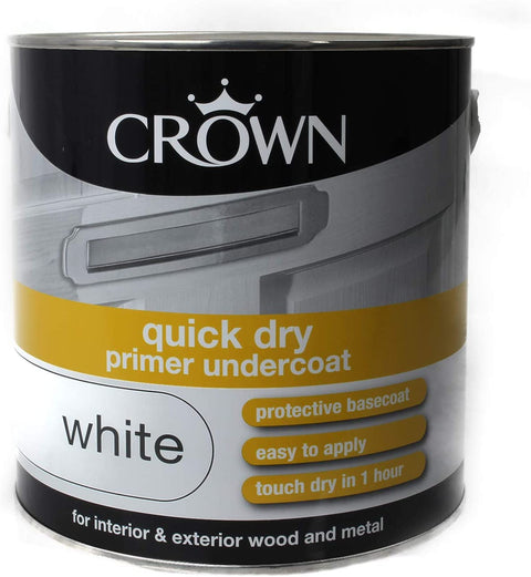 2.5L Crown Quick Dry Primer Undercoat White
