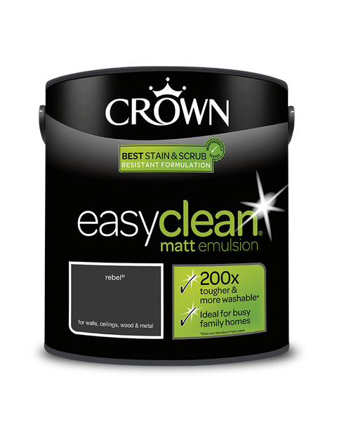 2.5L Crown Easyclean Matt Emulsion - Rebel