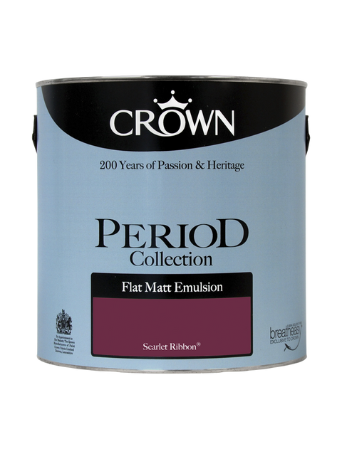 2.5L Crown Period Flat Matt Emulsion - Scarlet Ribbon