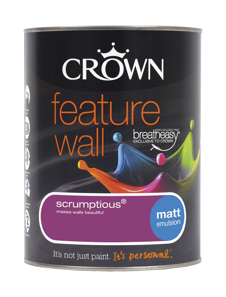 1.25L Crown Feature Wall Matt Emulsion - Scrumptious