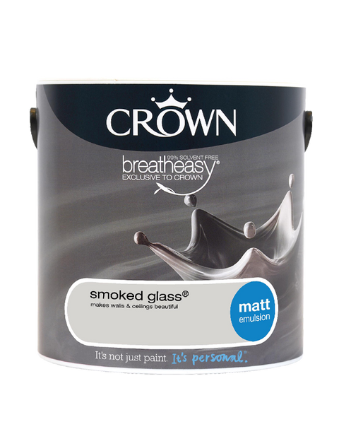2.5L Crown Matt Emulsion - Smoked Glass
