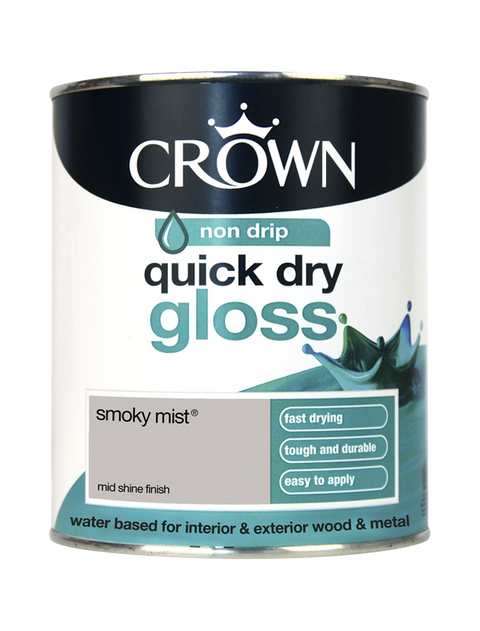750ml Crown Quick Dry Gloss - Smoky Mist