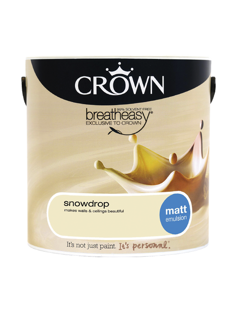 2.5L Crown Matt Emulsion - Snowdrop