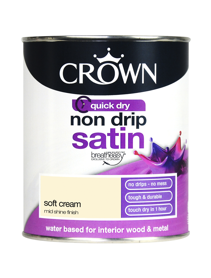 750ml Crown Non Drip Satin - Soft Cream
