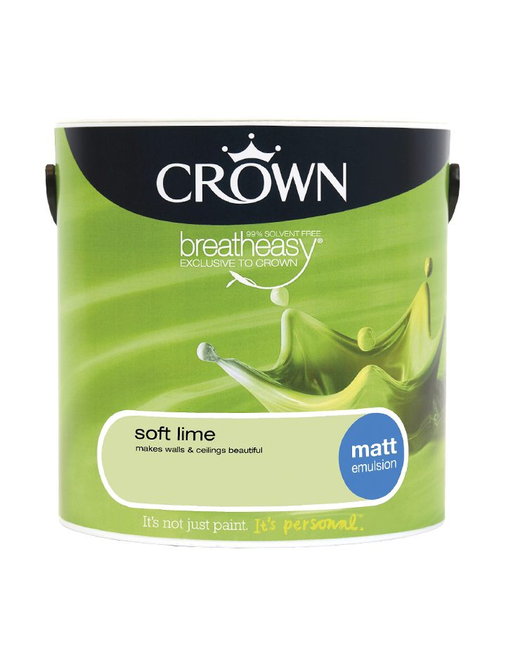 2.5L Crown Matt Emulsion - Soft Lime