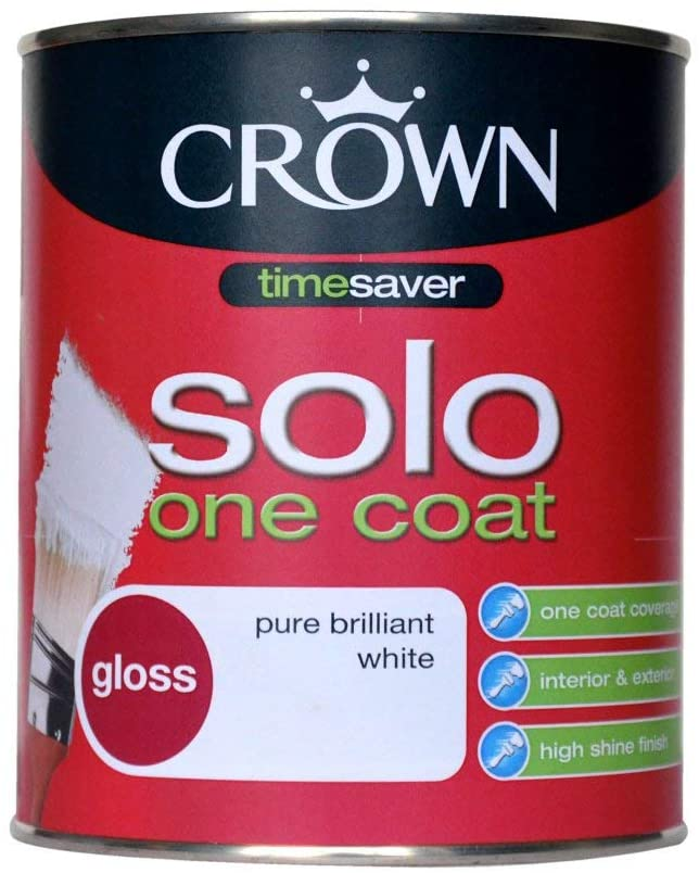750ml Crown Solo Gloss Pure Brilliant White