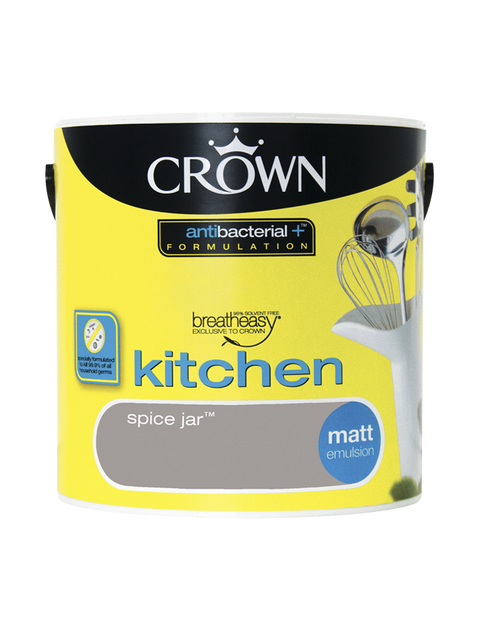 2.5L Crown Kitchen Matt Emulsion - Spice Jar