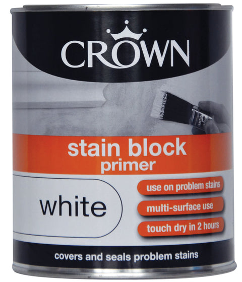 750ml Crown Stain Block Primer White