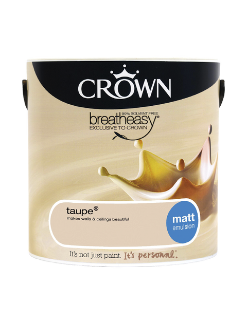2.5L Crown Matt Emulsion - Taupe