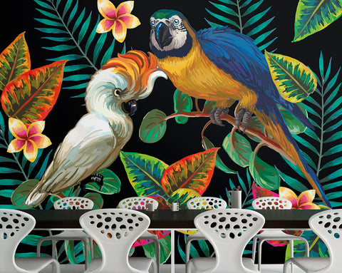 Tropical Birds Mural