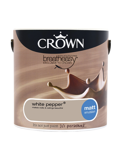 2.5L Crown Matt Emulsion - White Pepper