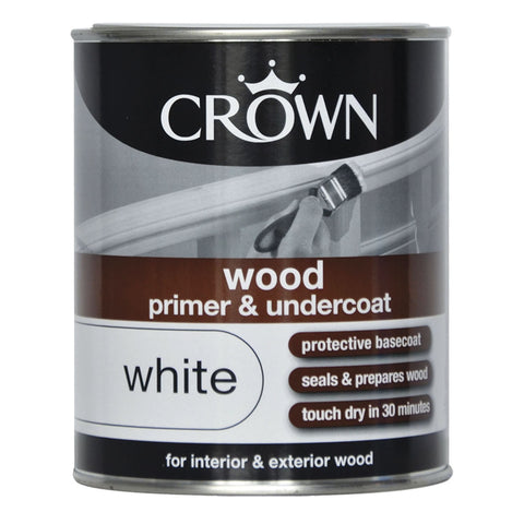 750ml Crown Wood Primer and Undercoat White