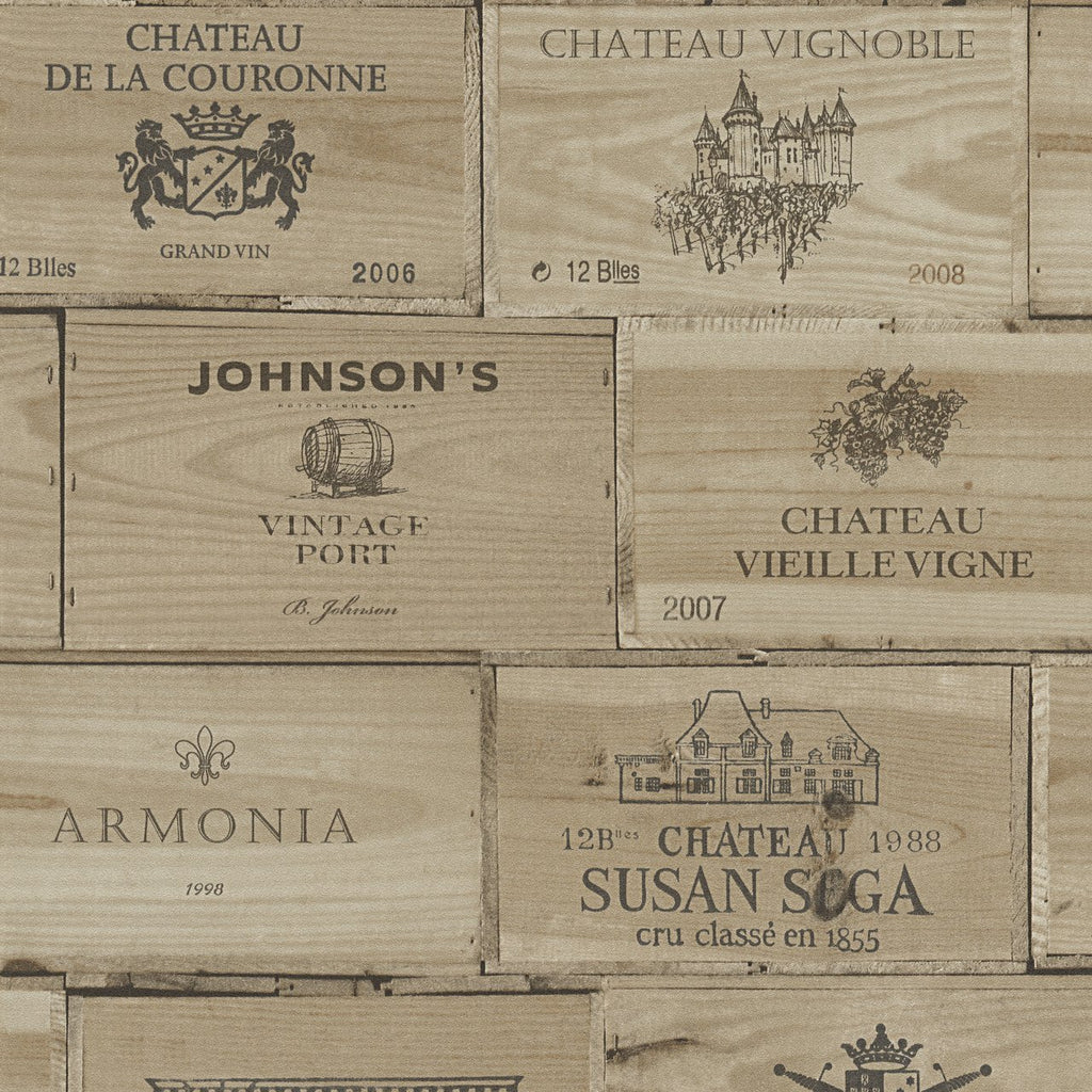 A S Creation Wallpapers Authentic Walls Wine Crates Wallpaper