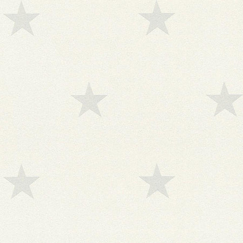 A S Creation Wallpapers Jewel White and Grey Glitter Star Wallpaper