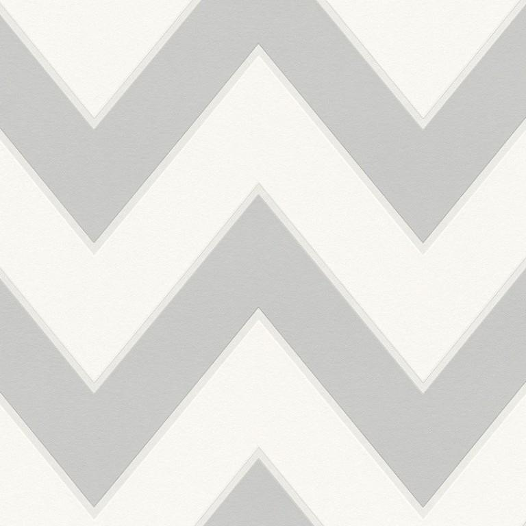 A S Creation Wallpapers Metropolis Grey Zigzag Wallpaper