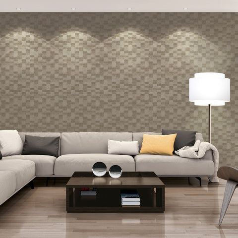 A S Creation Wallpapers Titanium Pewter Tiles Wallpaper
