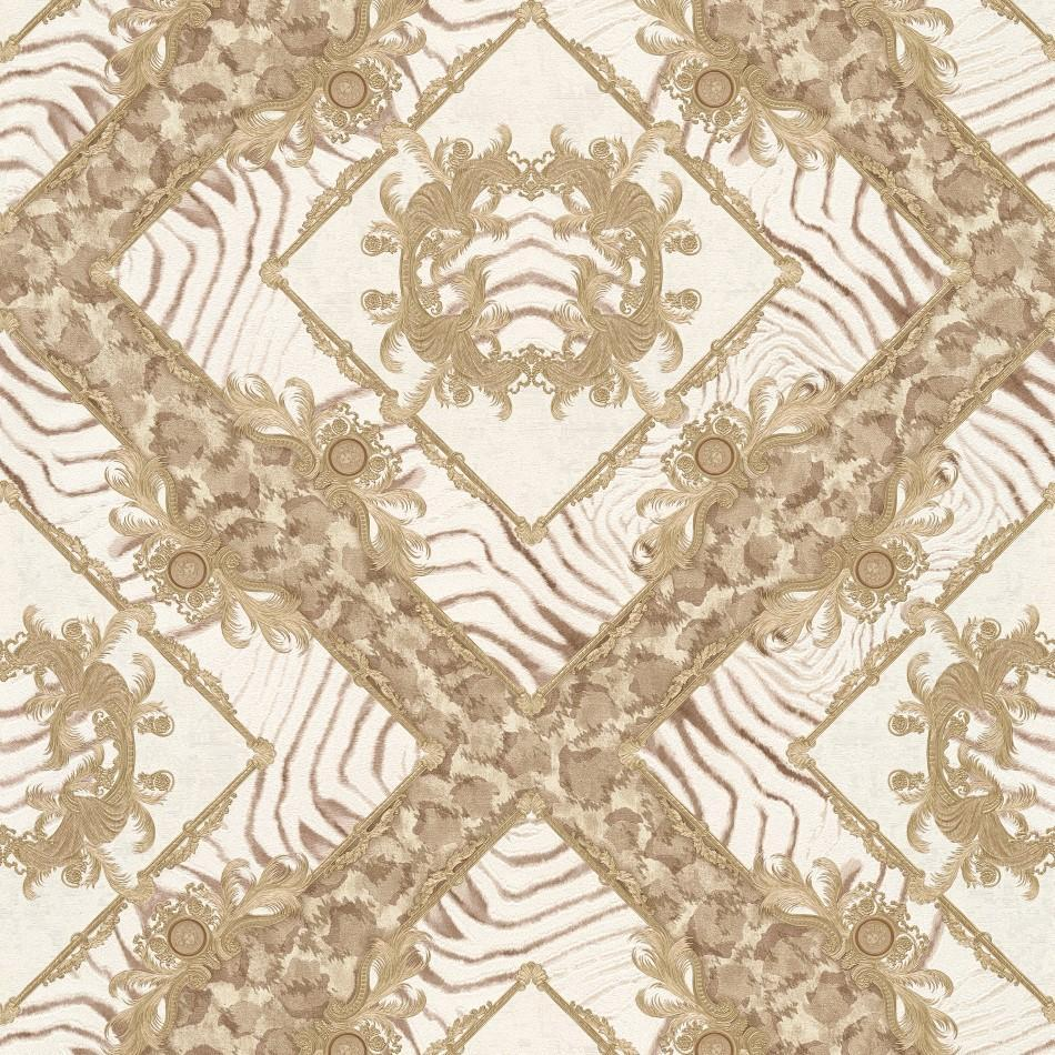 A S Creation Wallpapers Versace Beige Abstract Damask Wallpaper