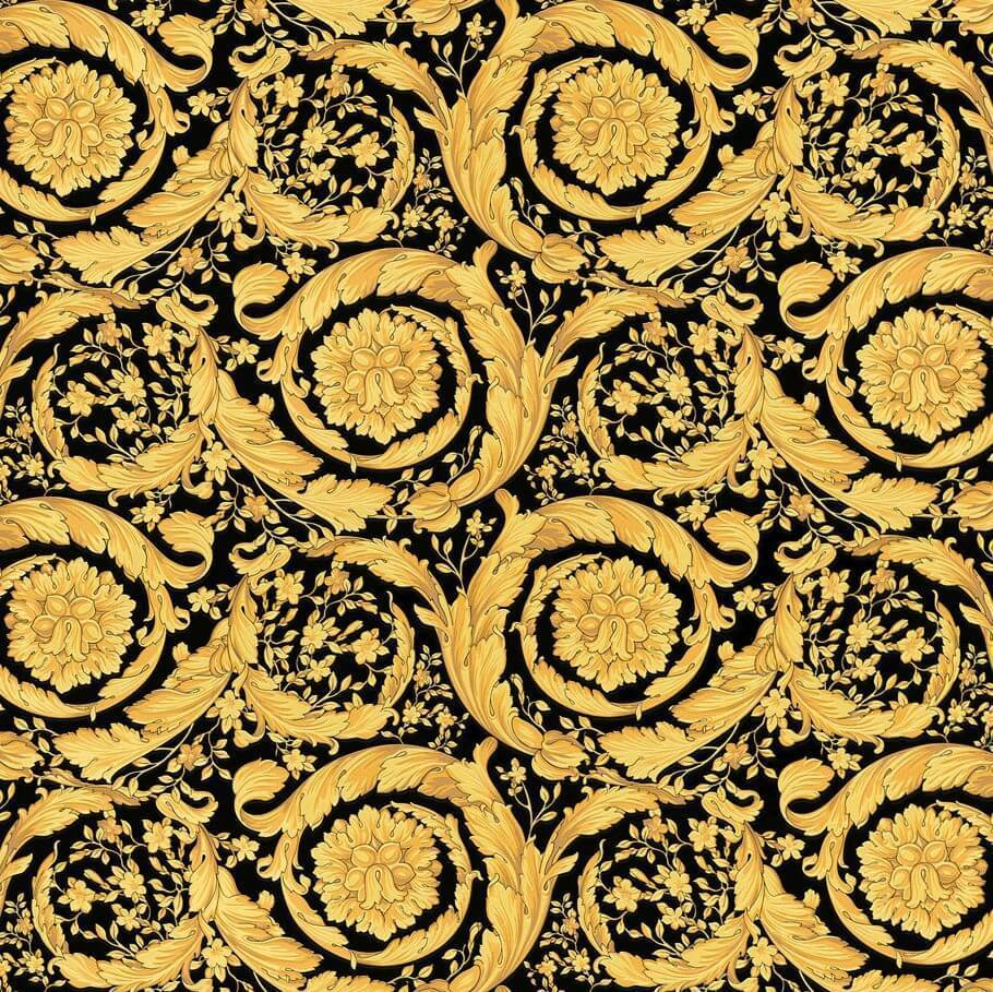 Versace Black And Gold Barocco Wallpaper By As Creation 93583 4