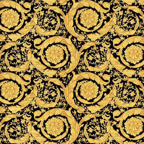 A S Creation Wallpapers Versace Black and Gold Barocco Wallpaper