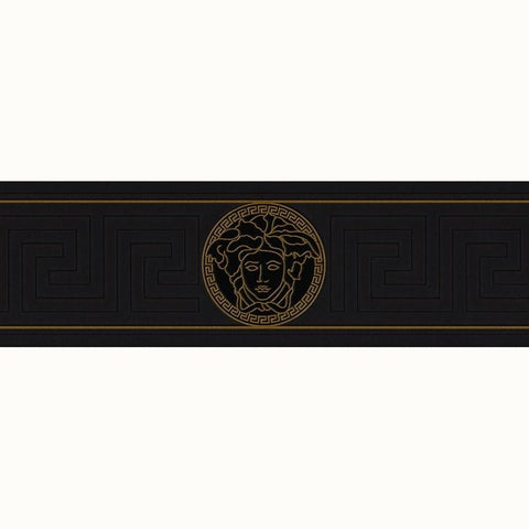 A S Creation Wallpapers Versace Black Greek Key Border
