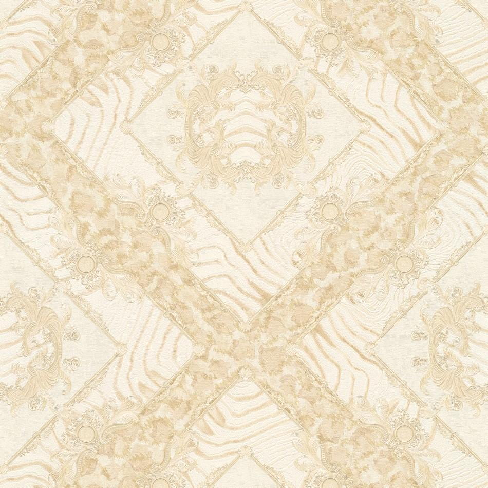 A S Creation Wallpapers Versace Cream Abstract Damask Wallpaper