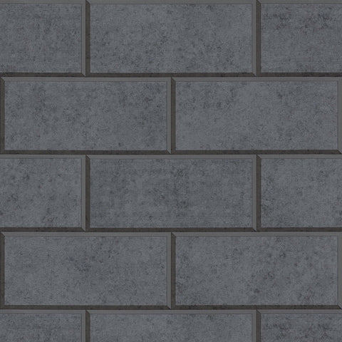 A S Creation Wallpapers Versace Dark Grey Brick Wallpaper