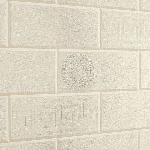 A S Creation Wallpapers Versace Light Beige Brick Wallpaper