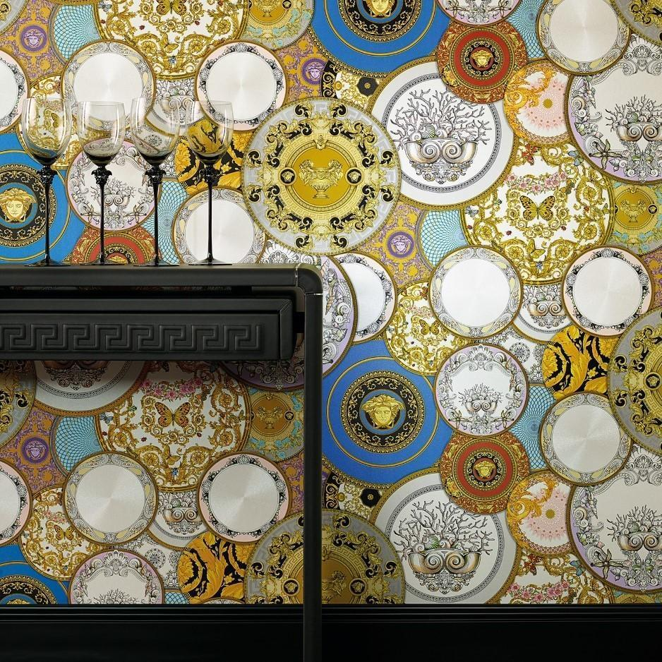 A S Creation Wallpapers Versace Multi Plates Wallpaper