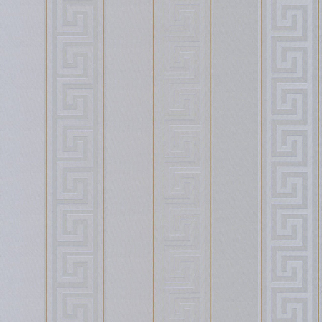 A S Creation Wallpapers Versace Silver Greek Key Stripe Wallpaper