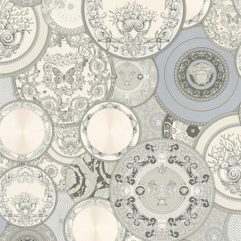 A S Creation Wallpapers Versace Silver Plates Wallpaper