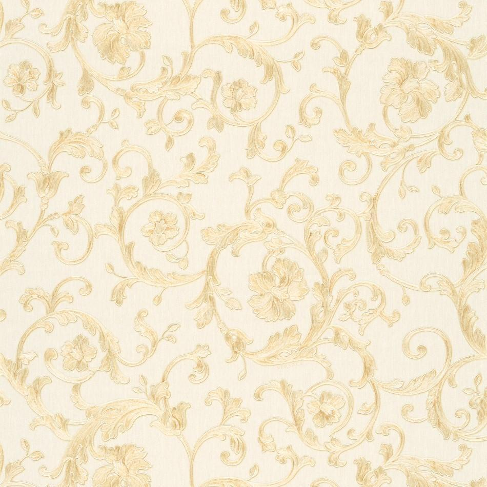 A S Creation Wallpapers Versace White and Gold Baroque Trail Wallpaper