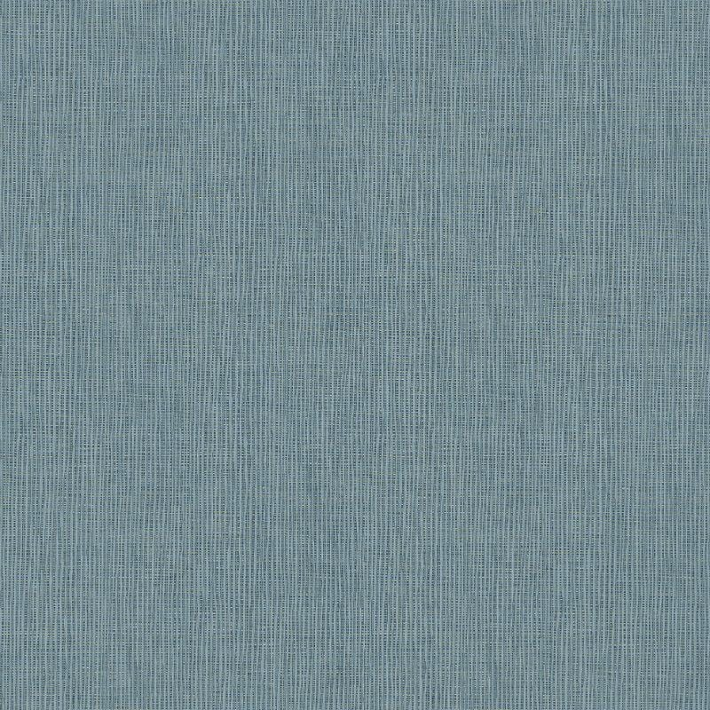Absolutely Chic Blue Grasscloth Texture Wallpaper