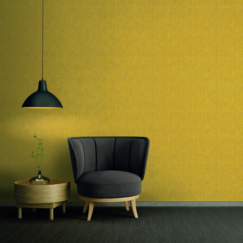 Absolutely Chic Yellow Grasscloth Texture Wallpaper