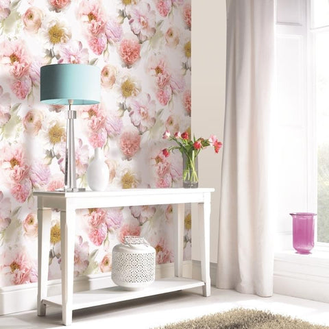 Arthouse Wallpapers Diamond Bloom Blush Pink Floral Wallpaper