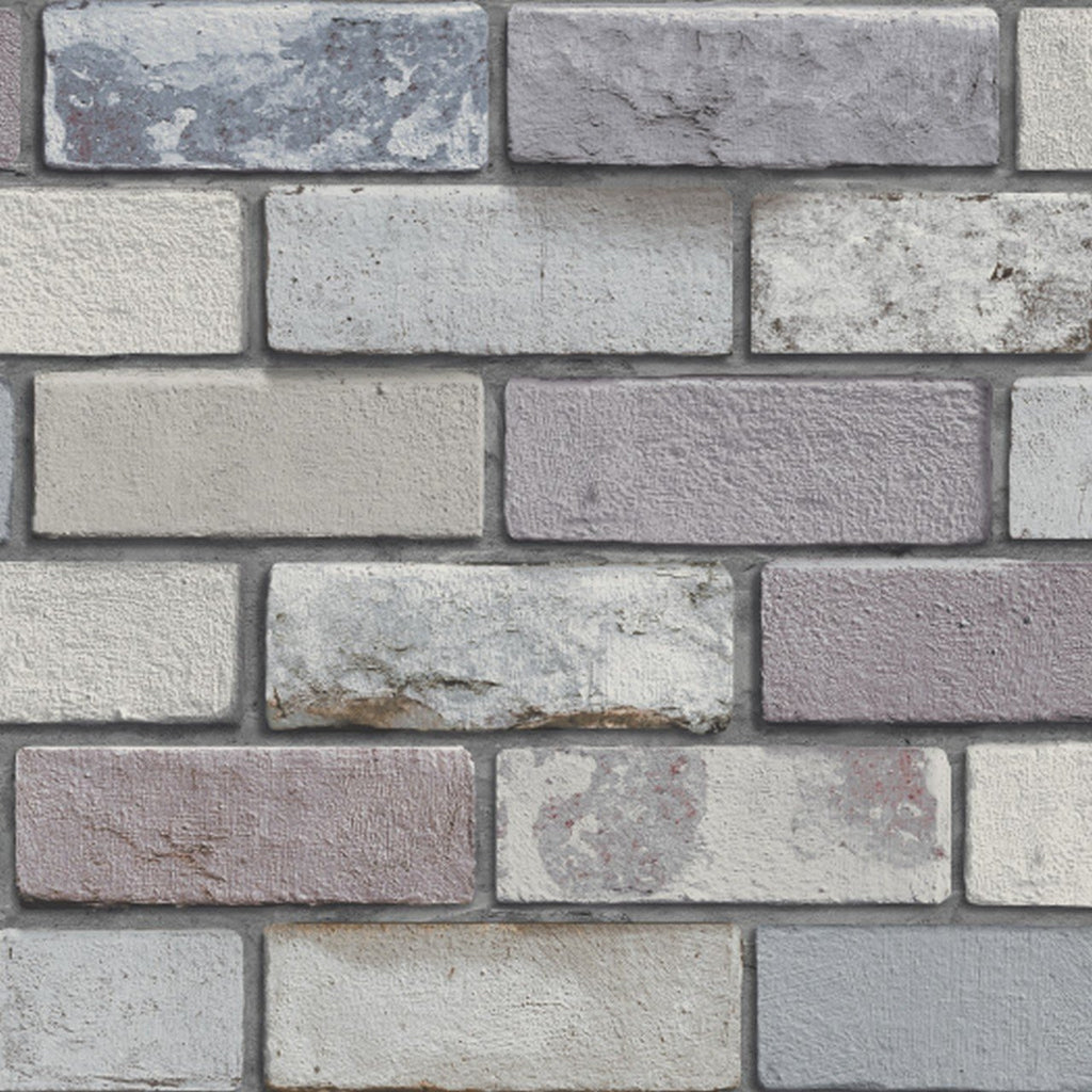 Arthouse Wallpapers Industrial Pastel Grey 3D Effect Brick Wallpaper