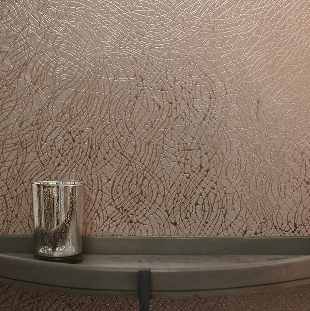 Arthouse Wallpapers Rose Gold Foil Swirl Wallpaper