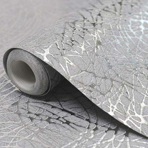 Arthouse Wallpapers Silver Foil Swirl Wallpaper