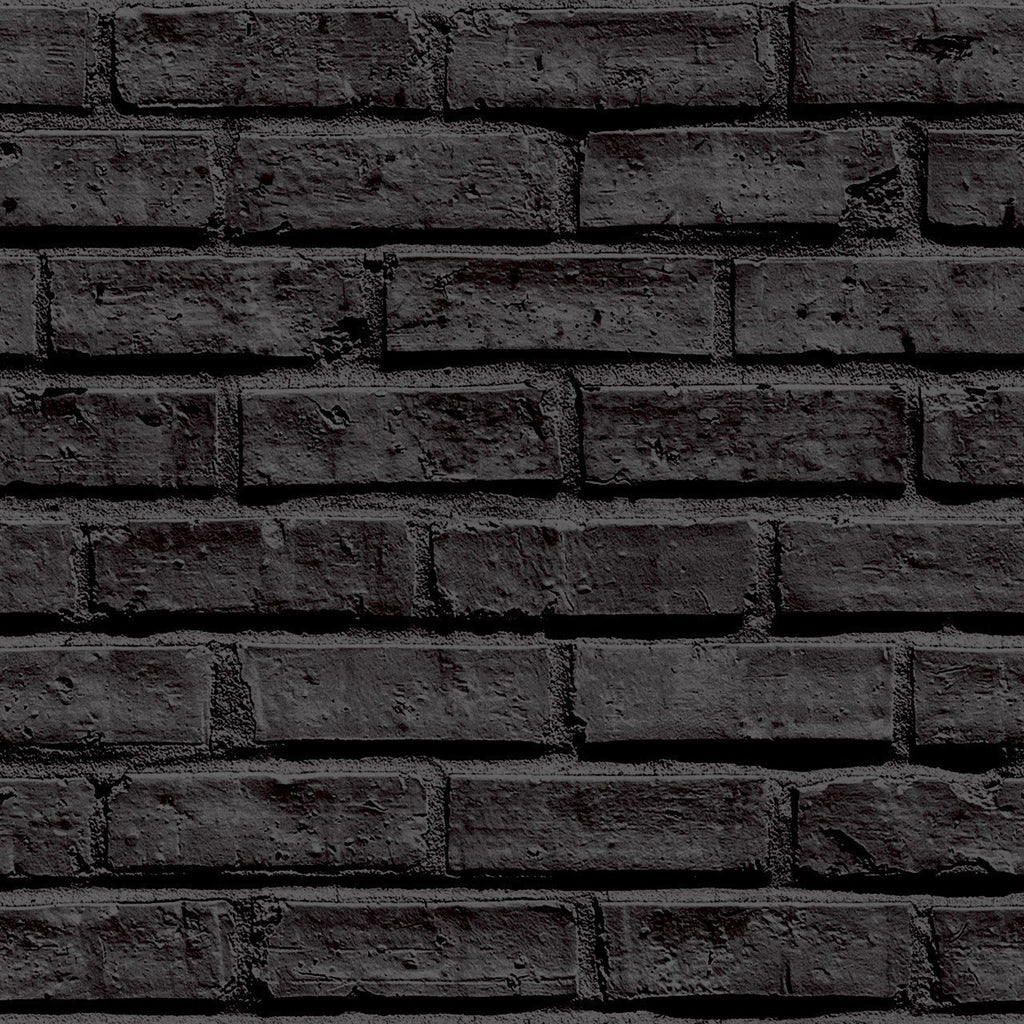 Arthouse Wallpapers VIP Black Brick Wallpaper
