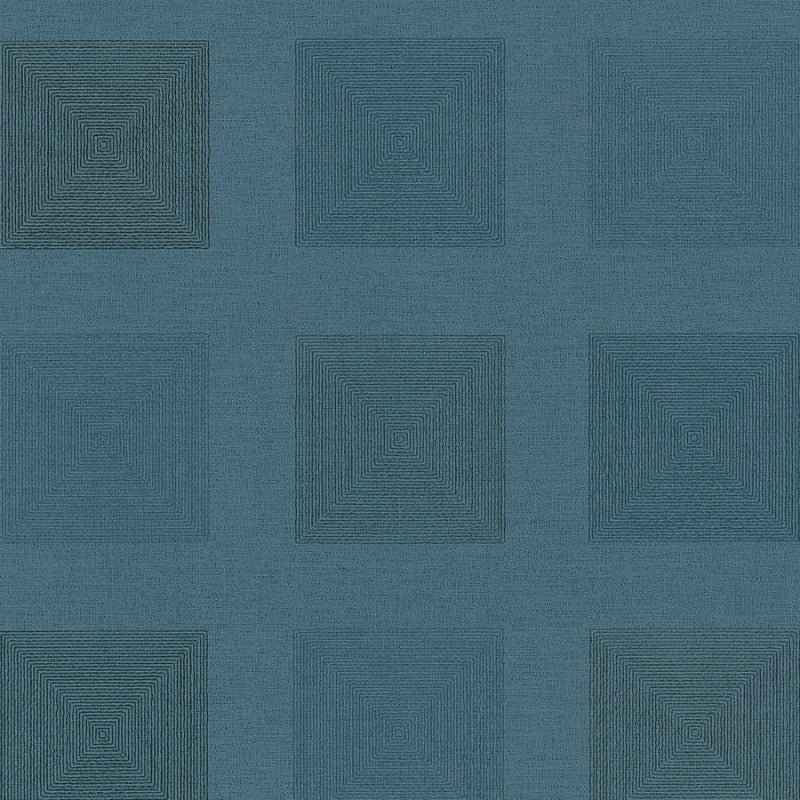 Ethnic Origin Deep Teal Geo Squares Wallpaper