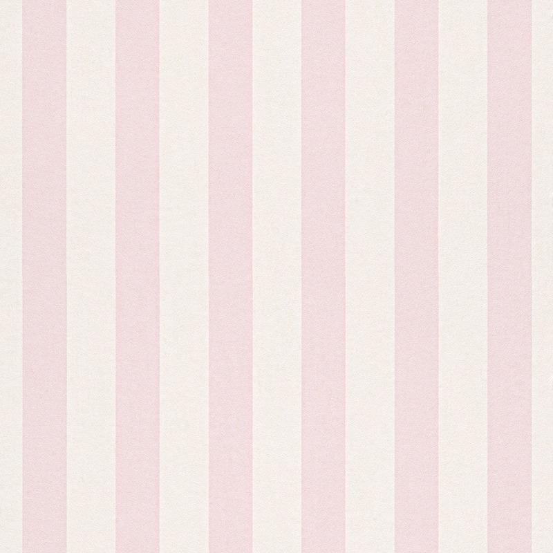 Bambino Baby Pink And White Stripe Wallpaper By Rasch 246018