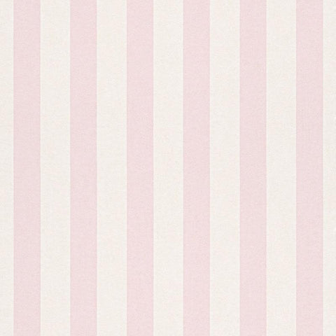 Bambino Light Pink and White Stripe Wallpaper