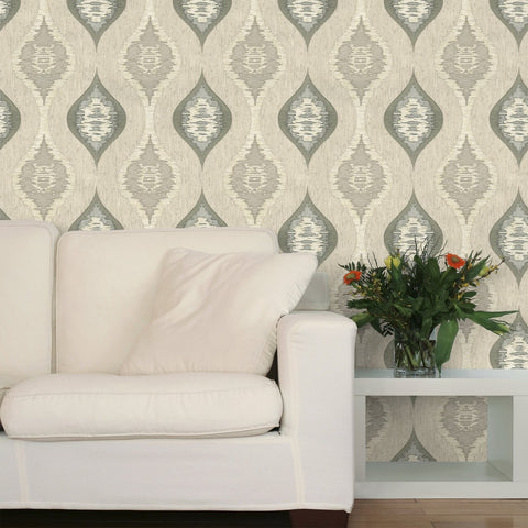 Belgravia Wallpapers San Marino Charcoal and Neutral Wallpaper