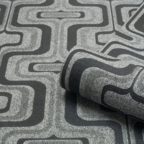 Belgravia Wallpapers San Remo Geometric Charcoal Wallpaper