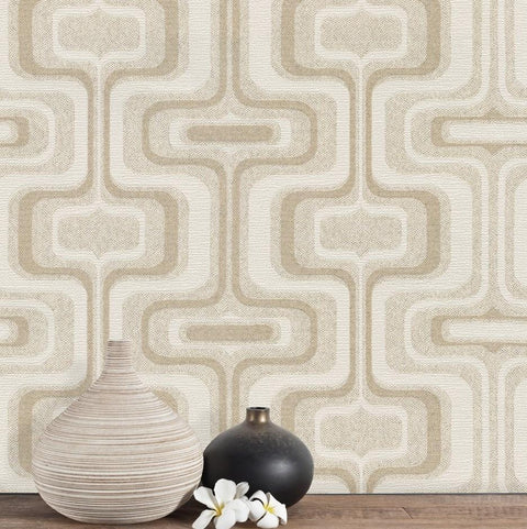 Belgravia Wallpapers San Remo Geometric Natural Wallpaper