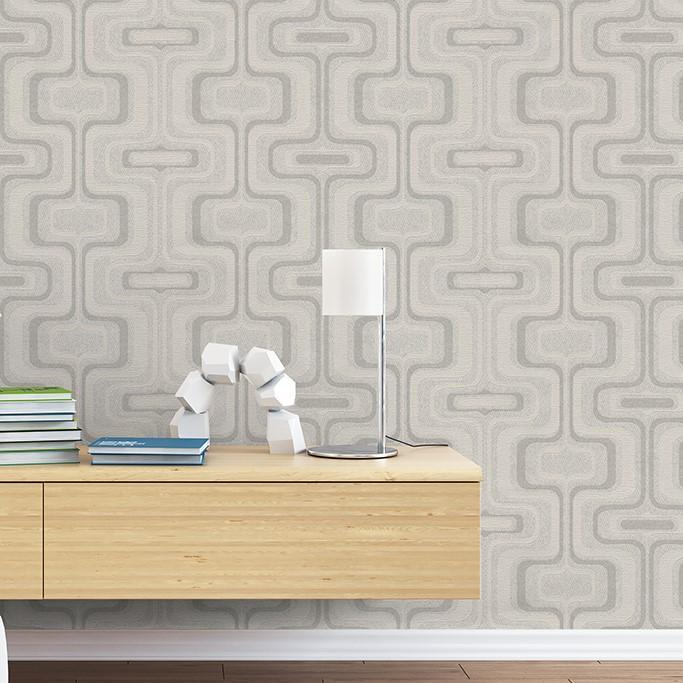 Belgravia Wallpapers San Remo Geometric Smoke Wallpaper