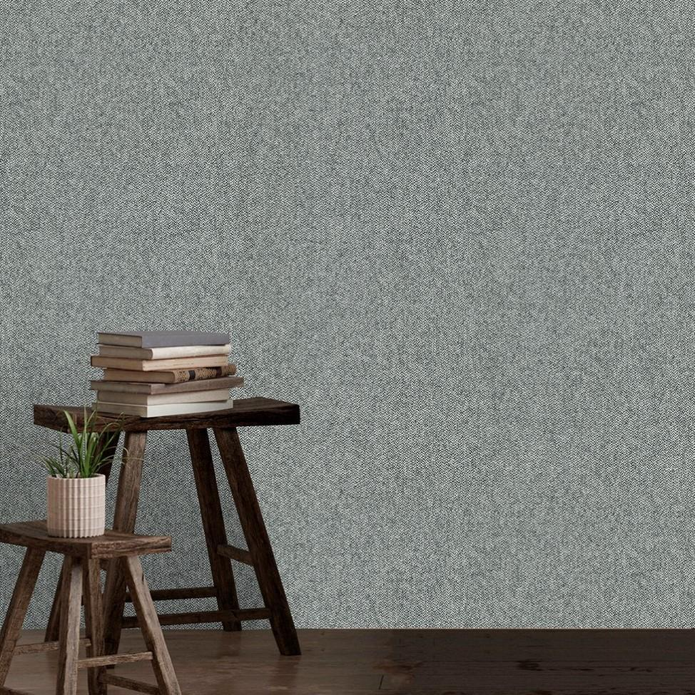 Belgravia Wallpapers San Remo Texture Charcoal Wallpaper