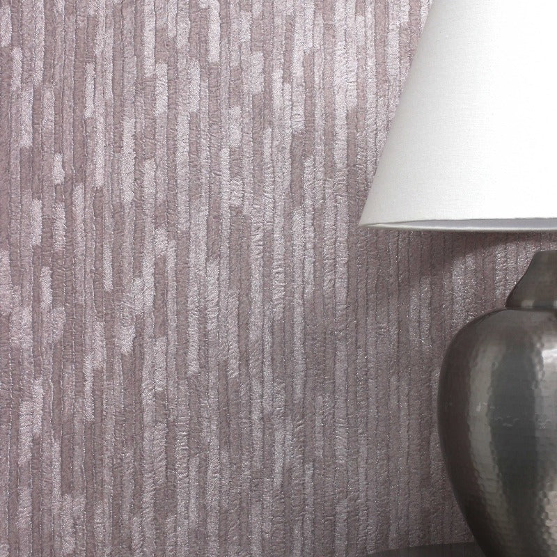 Bergamo Leather Texture Rose Gold Wallpaper