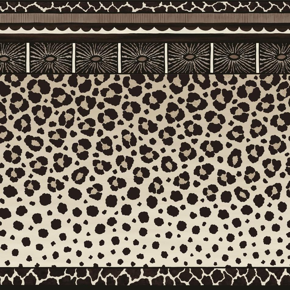 Cole and Son Wallpapers Ardmore Black and White Zulu Border